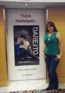 Katie McGarry, elevator door at RWA, Atlanta