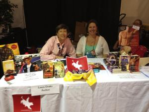 me-with-author-laura-drake-at-our-pbr-fan-zone-booth