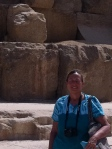 Fae at the base of the Great Pyramid